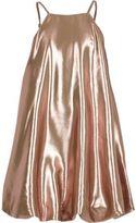 River Island Girls RI Studio pink metallic cami dress