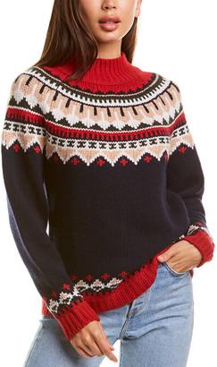Autumn Cashmere Fairisle Cashmere & Wool-Blend Sweater