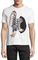 Neil Barrett Mechanical Owl T-Shirt, White