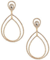Natasha Accessories Pave Double-Teardrop Earrings