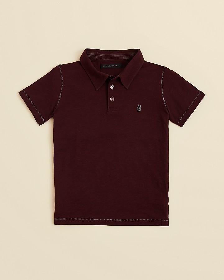 John Varvatos Boys' Short Sleeve Polo Shirt - Sizes S-XL