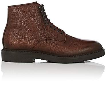 Scotch Grain Franceschetti Men's Leather Lace-Up Boots - Med. brown