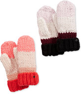 Kate Spade Chunky Knit Colorblock Mittens