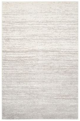 Safavieh Adirondack Collection ADR113 Rug, Ivory/Silver, 7' Square