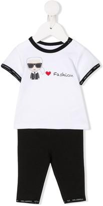 Karl Lagerfeld Paris Love Fashion Trouser Set