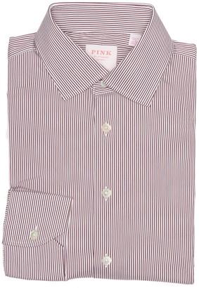 Thomas Pink Pinstripe Long Sleeve Athletic Fit Shirt