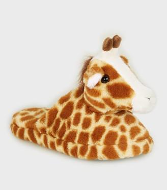 New Look Girls Faux Fur Giraffe Slippers