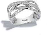 Effy Jewelry Effy Pave Classica 14K White Gold Diamond Criss Cross Ring, 0.40 TCW