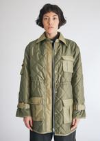 Ganni Women's Ripstop Quilt Jacket in Kalamata, Size 34