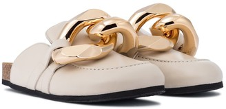 J.W.Anderson Embellished leather slippers