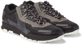 Lanvin - Panelled Leather, Suede And Mesh Sneakers