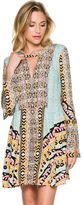 Free People Tegan Border Printed Mini Dress