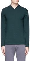 Armani Collezioni Grid knit V-neck sweater