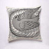 Flourish Dove Linen Pillow