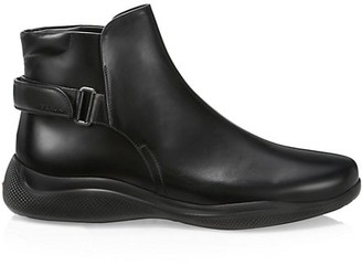 Prada Brushed Leather Boots