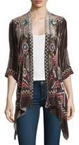 Johnny Was Dani Velvet Draped Cardigan, Plus Size