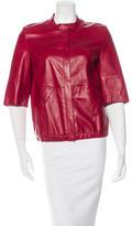 Akris Leather Short Sleeve Jacket