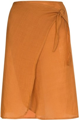 Anémone High-Waisted Wrap Skirt