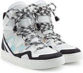 Marc by Marc Jacobs Wedge Sneakers with Metallic Leather and Mesh
