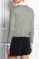 Alice + Olivia Stace Face appliquéd knitted cardigan