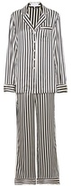 Olivia von Halle Lila Nika Striped Silk-satin Pyjamas