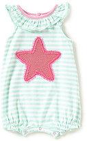 Starting Out Baby Girls Newborn-9 Months Striped Starfish Shortall