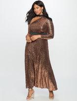 ELOQUII Plus Size One Shoulder Sequin Dress