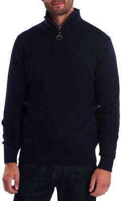 Barbour Essential Quarter Zip Wool Sweater