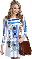 Mighty Fine womens Womens Star Wars I am R2D2 Skater Dress