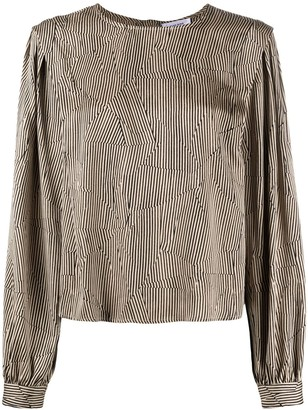Anine Bing Panelled Striped Blouse