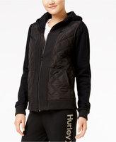 Hurley Juniors' Logan Quilted Hoodie Jacket