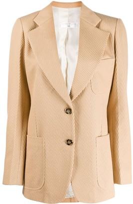 Victoria Beckham Bowie corduroy single-breasted blazer