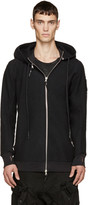 11 By Boris Bidjan Saberi Black Felted Wool Hoodie