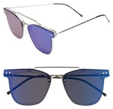 Spitfire Women's Ftl 2 54Mm Flat Frame Sunglasses - Clear/ Gold/ Blue Mirror