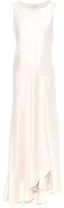 Amanda Wakeley Asymmetric Satin Midi Dress