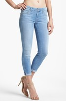 Mother 'The Looker' Crop Skinny Jeans (Light Kitty)