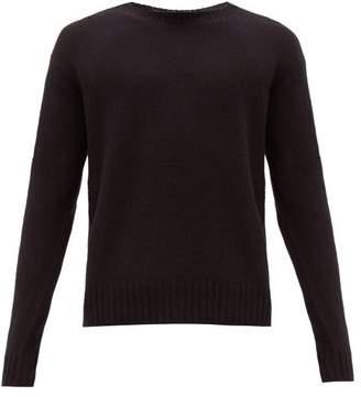 Prada Bolt Intarsia Virgin Wool Sweater - Mens - Black