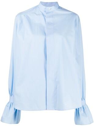 AMI Paris Ruffled-Cuff Short Shirt