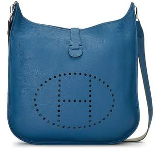 Hermes Blue de Galice Clemence Leather Evelyne III Amazone TGM