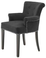 Eichholtz Key Largo Armchair Upholstery Color: Black, Leg Color: Black