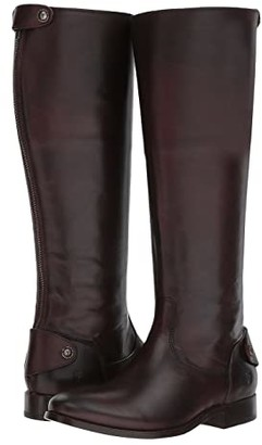 Frye Melissa Button Back Zip (Dark Brown) Women's Zip Boots