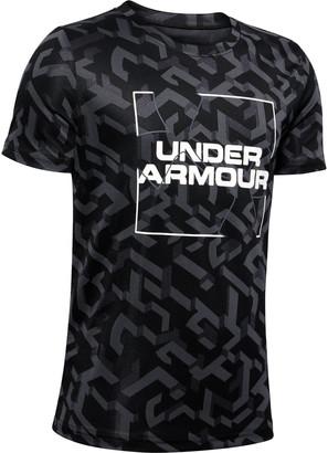 Under Armour Boys' UA Velocity Big Logo Jacquard Short Sleeve