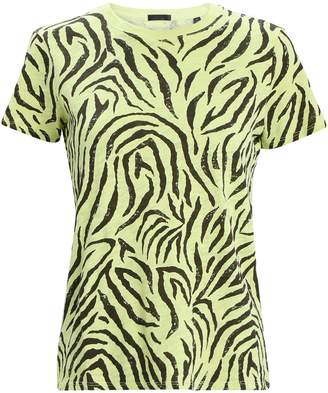 ATM Anthony Thomas Melillo Zebra Slub Jersey Cotton T-Shirt