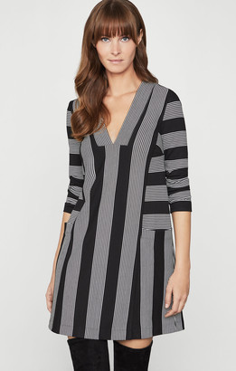 BCBGMAXAZRIA Striped Tunic Dress