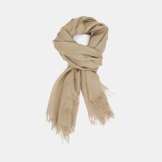 Theory Oversized Fringe Scarf in Viscose-Wool Blend