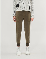James Perse Faded cotton jogging bottoms