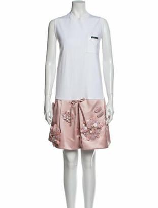 Prada Colorblock Pattern Mini Dress w/ Tags Pink