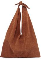 The Row Bindle Knot Suede Hobo Bag, Saddle