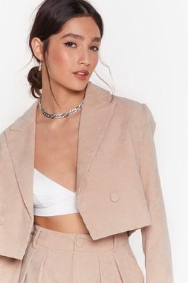 BEIGE Nasty GalNasty Gal Womens Woman'S World Cropped Corduroy Blazer 6,