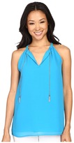 Calvin Klein Sleeveless Top w/ Chain at Neck